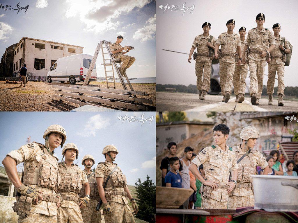 """Những tài tử Hàn Quốc trong bộ phim """"Hậu duệ mặt trời"""""""