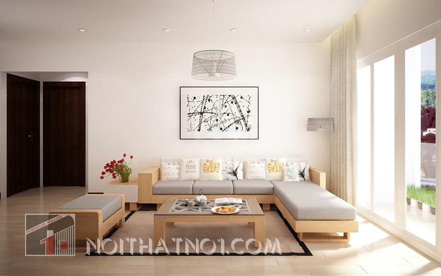 mẫu sofa gỗ hiện đại độc đáo