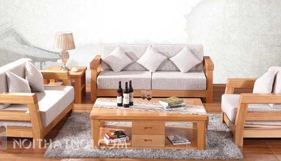 sofa gỗ hiện đại sang trọng