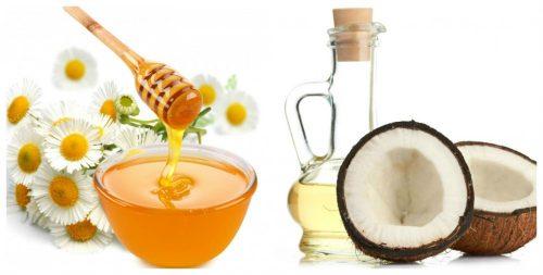 Hấp và ủ tóc với hỗn hợp dầu dừa, dầu olive và mật ong