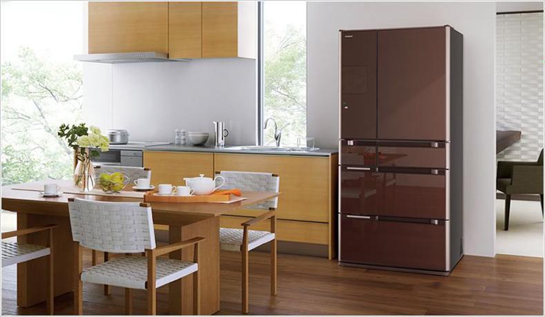 Thiết kế sang trọng, tinh tế của tủ lạnh Hitachi R-C6200S