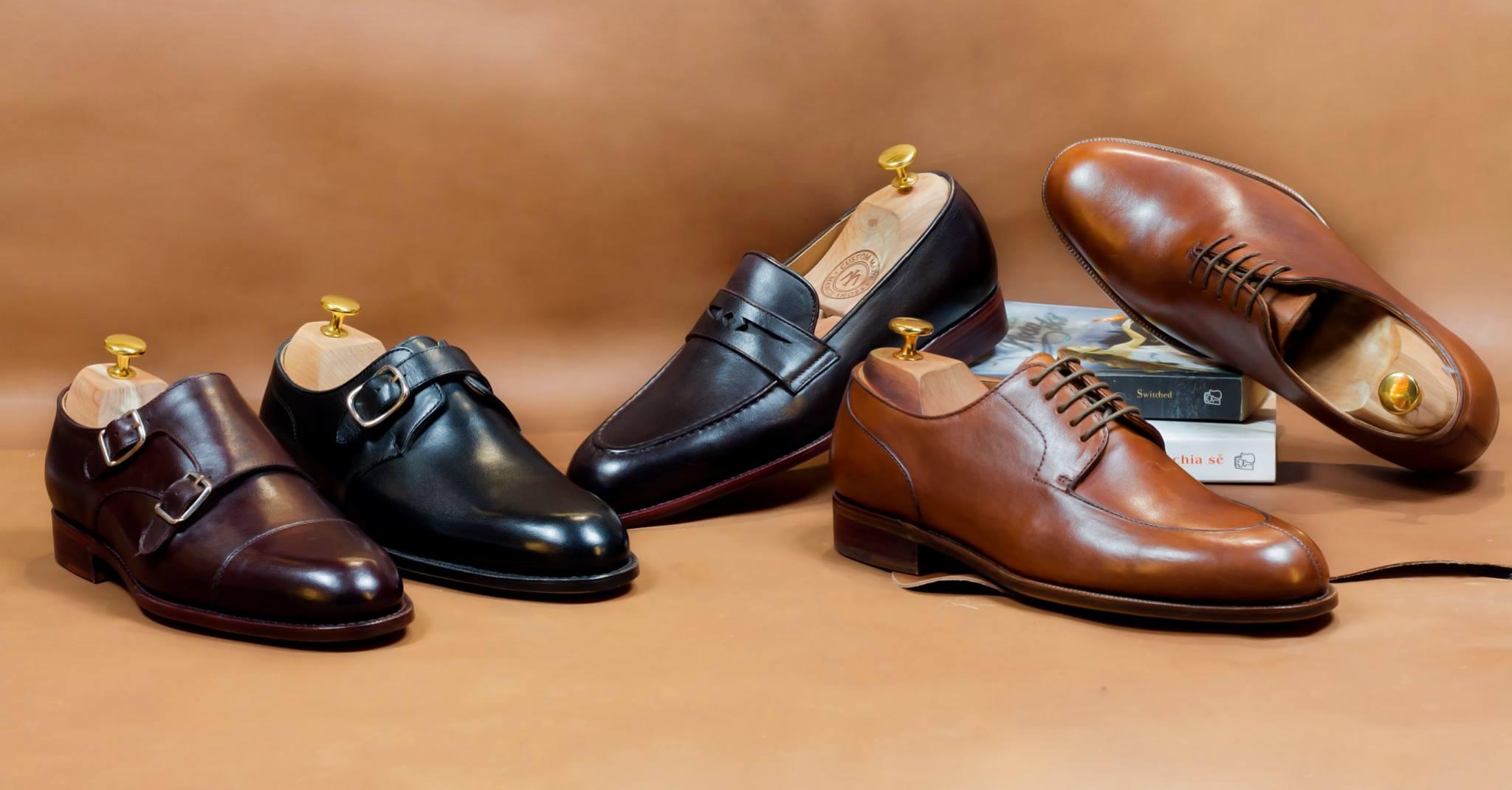 Giày tây mui tròn, mũi vuông là sự lựa chọn tốt nhất cho nưng người có vóc dáng cao gầy