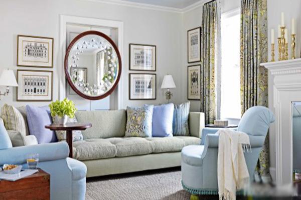 Cách bố trí bể cá, tranh treo tường và gương Cách bố trí bể cá, tranh treo tường và gương trong phòng kháchtrong phòng khách