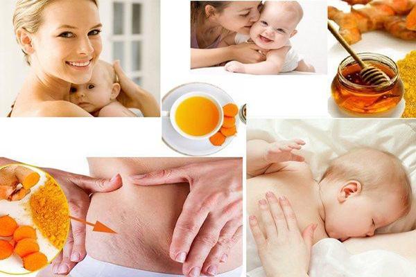 Phụ nữ sau sinh bao lâu thì uống tinh bột nghệ là tốt nhất