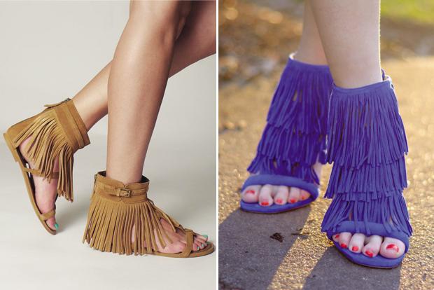 Giày sandal dây tua rua