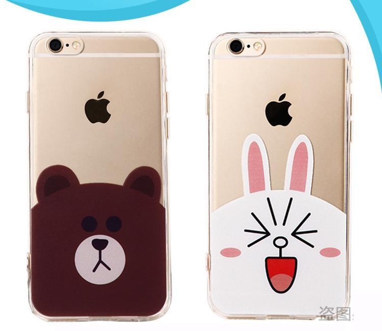 Mẫu ốp điện thoại gấu nâu Brown và thỏ trắng Cony