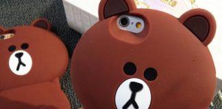 Ốp điện thoại hình gấu brown siêu đáng yêu