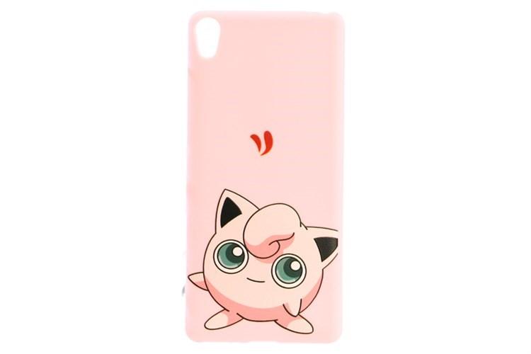 Ốp điện thoại màu hồng nhân vật Pokemon