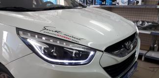 Dịch vụ độ đèn xe Hyundai Tucson giúp người lái xe cầm lái an toàn hơn