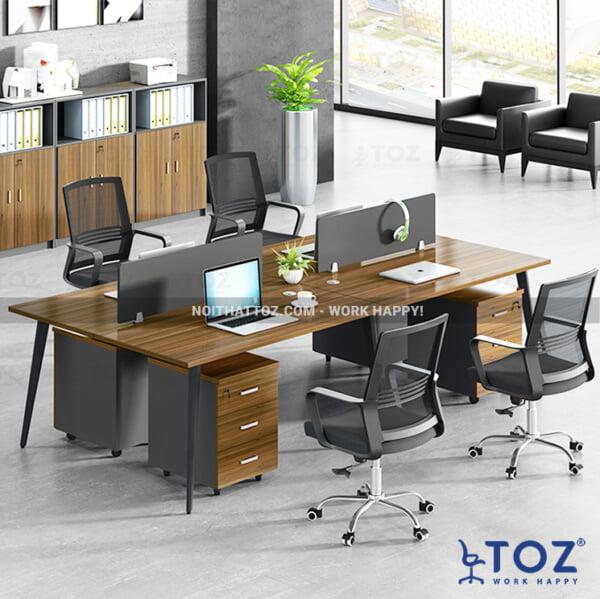 Bàn làm việc văn phòng cao cấp chỉ có tại TOZ